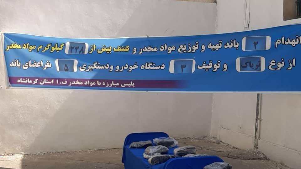 کشف ۲۲۸ کیلوگرم تریاک در کرمانشاه/انهدام ۲ باند و دستگیری ۵ قاچاقچی