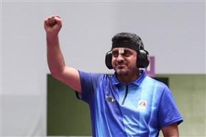 شلیک طلایی دلاور مرد ایلامی در المپیک