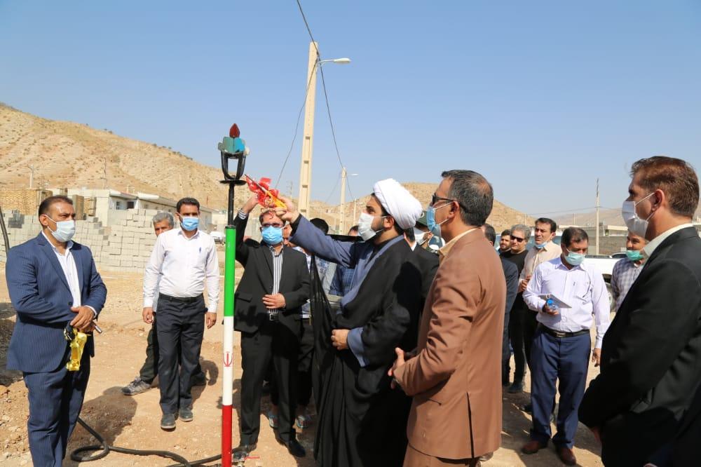 مشعل گاز در روستای چم شیر سیروان به مناسبت هفته دولت روشن شد